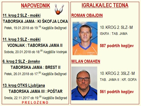 NAPOVEDNIK 11. KROG 2017-2018 + IGARLEC KROGA